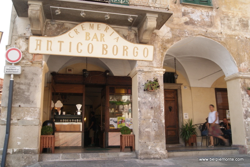 one of coffee shops in Piazza district