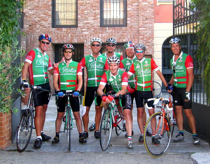 CycleItalia biking group in Piedmont, Italy
