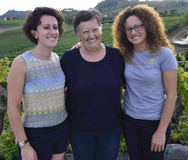 Lucia Altare with her daughters Elena (left) and Silvia. Photo Credit – Elisabetta Vacchetto