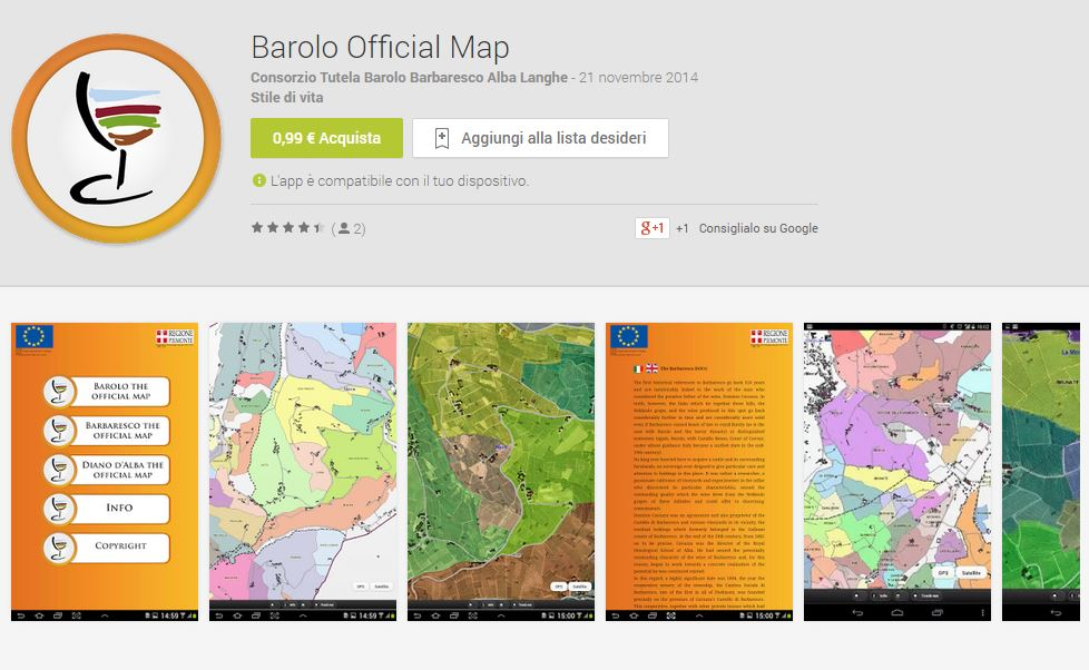Barolo official map su Google Play