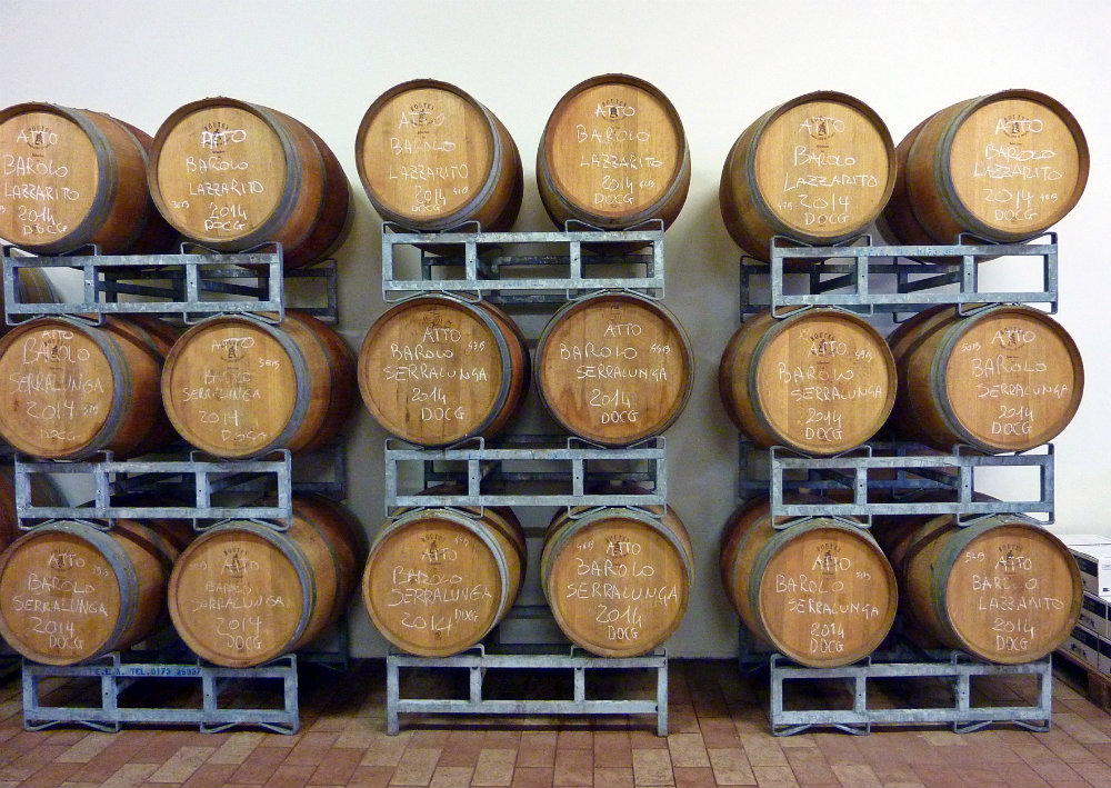 Barriques at Alessandro Rivetto winery