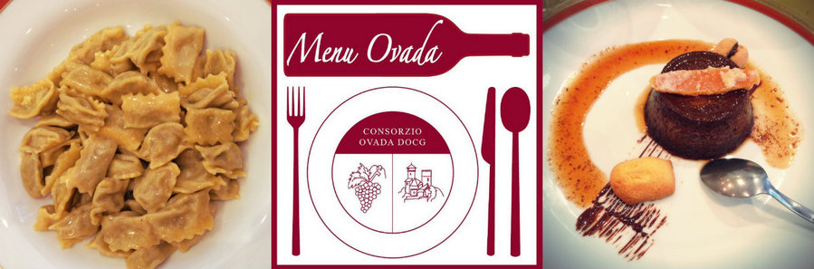Menu Ovada with agnolotti del plin and boney