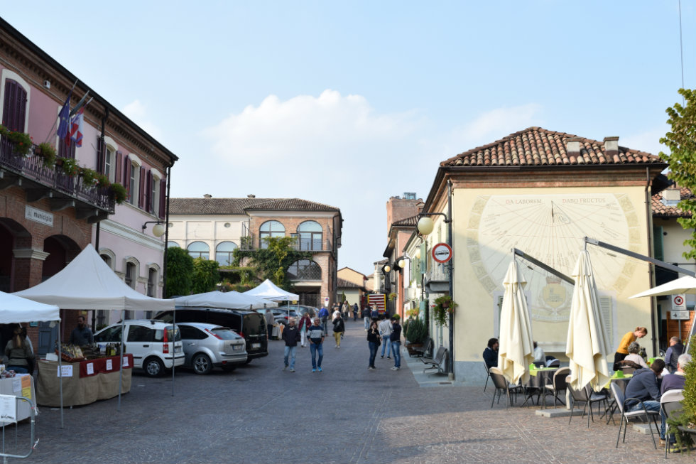 Main square of Barbaresco. Photo © Julie Sitch
