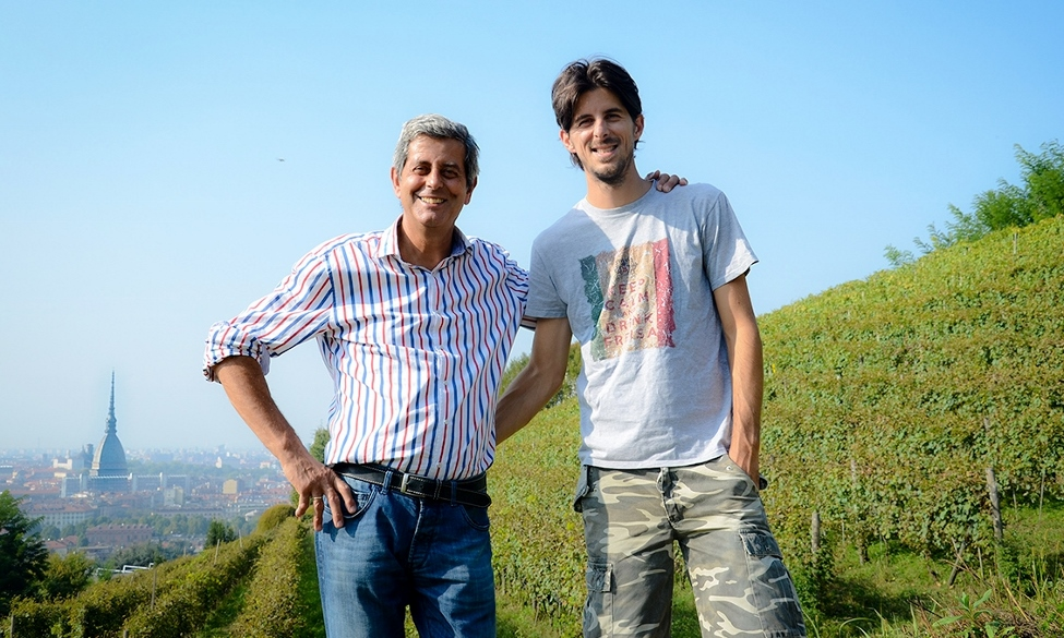 Francesco and Luca Balbiano at Vigna della Regina, Turin. Photo courtesy of Luca Balbiano