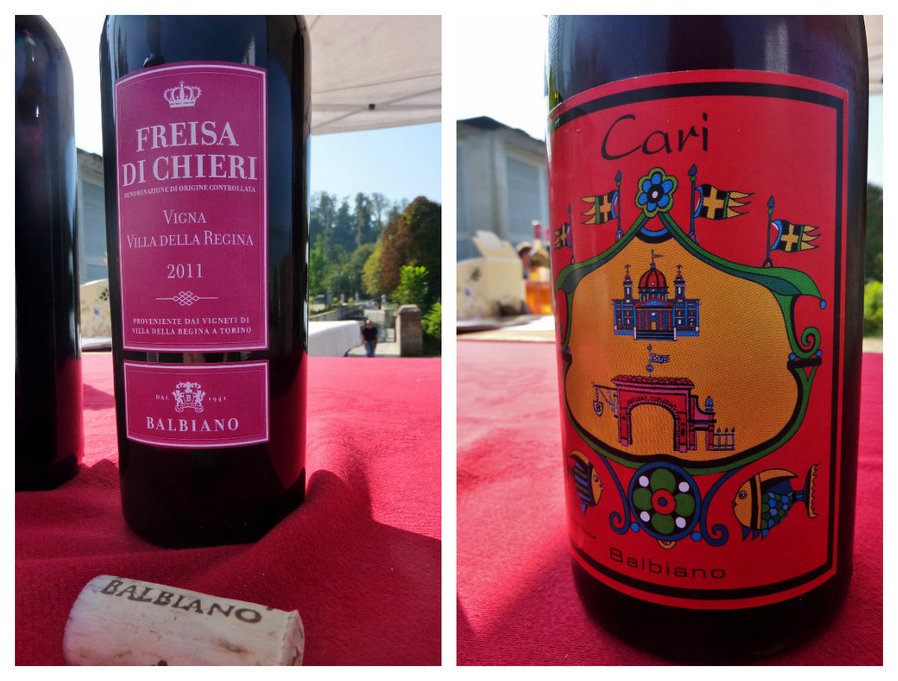 Freisa and Carì wines from Vigna della Regina, Turin