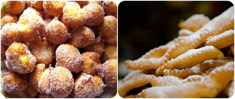 Frittelle and Bugie, Carnevale sweets