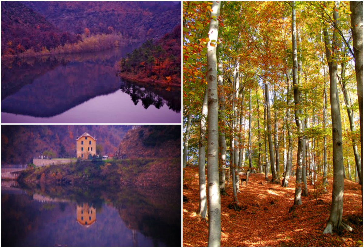 Capanne of Marcarolo in the Autumn. Photos from panoramio.com. Lake pictures by Flavio Malaspina