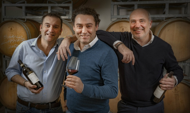 Alessandro Bonelli, Alessandro Rivetto, and Mauro Adriano. Photo © Alessandro Rivetto Winery