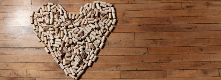 Wine cork heart. Photo from winestyr, Creative Commons