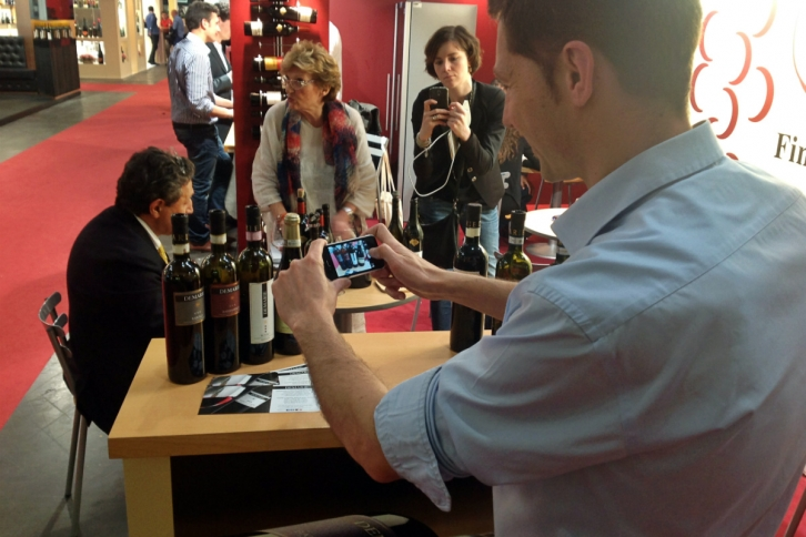 Paolo Demarie at Vinitaly 2014